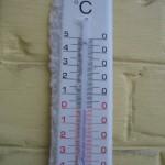 thermomètre dans le froid