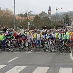 Départ premiere course de vélo