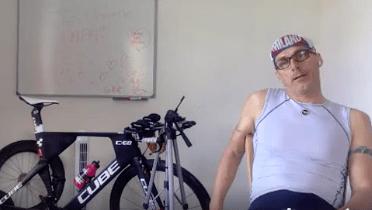 Seance home trainer de récupération en travail technique :contraste de force et vélocité