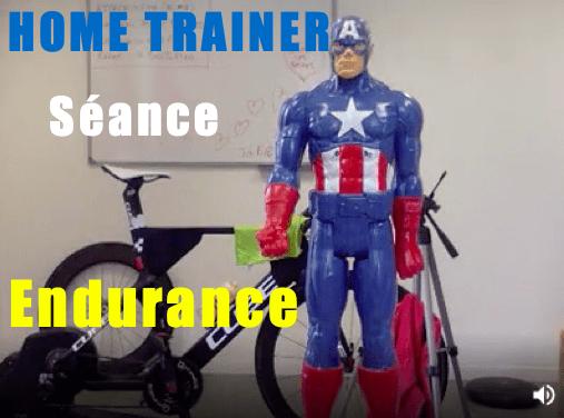 Seance d'endurance sur home trainer en 45 minutes