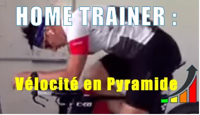 Home trainer en pyramide Vélocité pour le coup de pédale