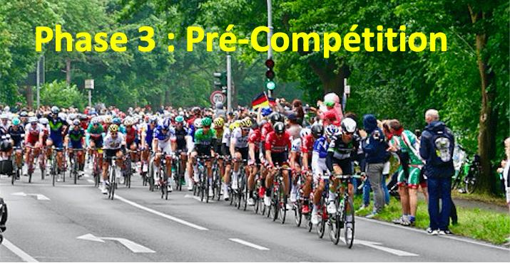 La phase de Pré-Compétition à vélo